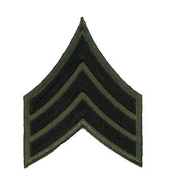 Army Sergeant Badge Patch, RBM15 [Black]