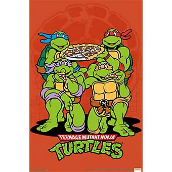 TMNT - Pizza Poster Poster Print