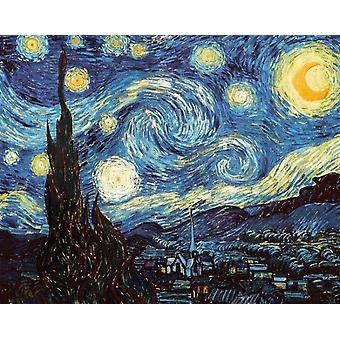 Vincent Van Gogh Starry Night Poster Poster Print
