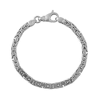 Sterling Silver 925 Mens Gents Heavy Solid Square Byzantine Chain Chunky Weighty Bracelet 6mm Wide