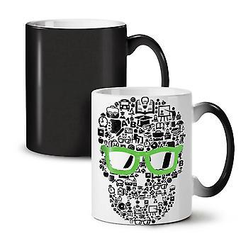 Swag Cool Head Face Skull NEW Black Colour Changing Tea Coffee Ceramic Mug 11 oz | Wellcoda