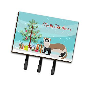Carolines Treasures  BB9245TH68 Ferret Christmas Leash or Key Holder
