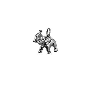 Srebrny 20x19mm Jumbo słoń wisiorek lub urok