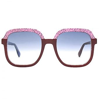 Jimmy Choo Glint Sunglasses In Red Blue Glitter