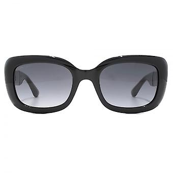 Jimmy Choo Vinny Sunglasses In Black Glitter