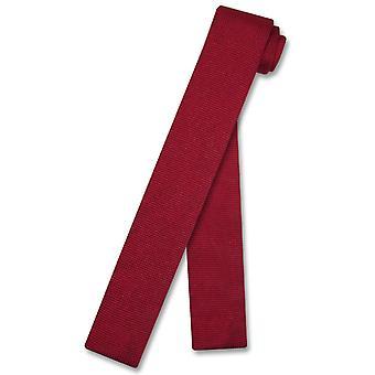 Biagio stickad hals slips Solid mäns stickad halsduk
