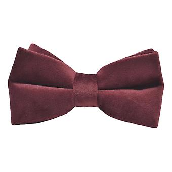 Luxury Burgundy Velvet Bow Tie