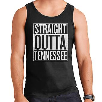 Testo Straight Outta Tennessee bianco gilet maschile degli Stati Uniti