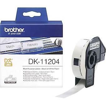 Brother Labels (roll) 54 x 17 mm Paper White 400 p