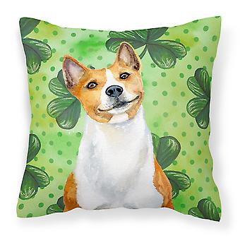 Carolines Treasures  BB9866PW1818 Basenji St Patrick's Fabric Decorative Pillow