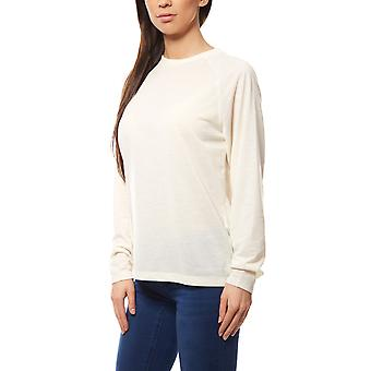 ADPT. Abeita LS Boxie sweat ladies pullover white with a simple look