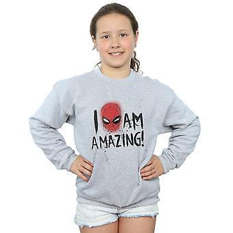 Marvel Girls Spider-Man I Am Amazing Sweatshirt