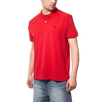 U.S. POLO ASSN. Men's Polo Shirt red Piqué