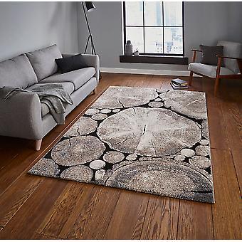 Woodland denke 6318 Beige schwarz Rechteck Teppiche moderne Teppiche