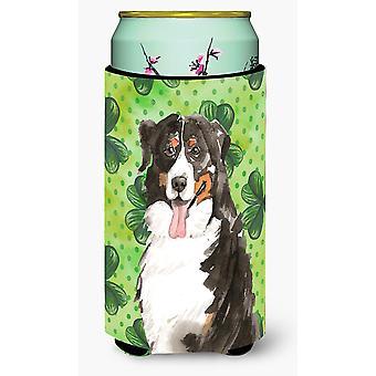 Shamrocks Bernese Mountain Dog Tall Boy Beverage Insulator Hugger