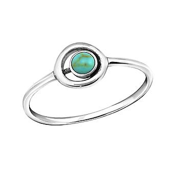 Circle - 925 Sterling Silver Jewelled Rings - W37132X