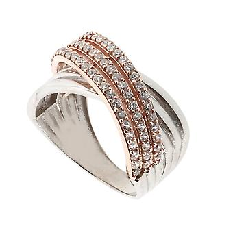 Orphelia Silver 925 Ring Rose Zilver  Zirconium   ZR-3951