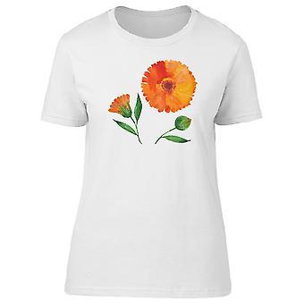 Цветок календулы Tee женщин-изображений Shutterstock