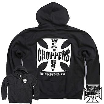 West Coast choppers Croce di ferro di Zip Hoody