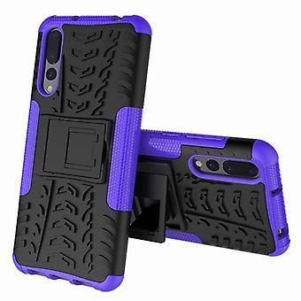 Pezzo di ibrido caso 2 il viola all'aperto SWL per Huawei P20 custodia borsa manicotto coperchio di protezione