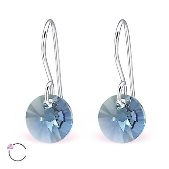 Round crystal from Swarovski® - 925 Sterling Silver Earrings