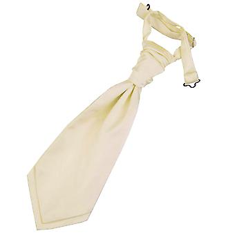 Champagne Plain Satin Pre-Tied Wedding Cravat for Boys