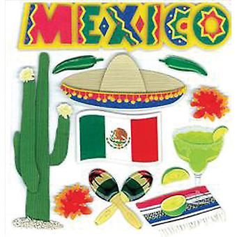 Jolee's Boutique Dimensional Stickers-Mexico