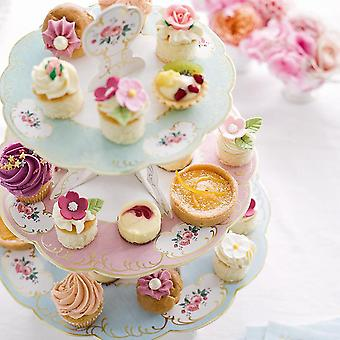 Talking Tables Truly Chintz 3 Tier Reversible Cake Stand (H36 x W30cm)