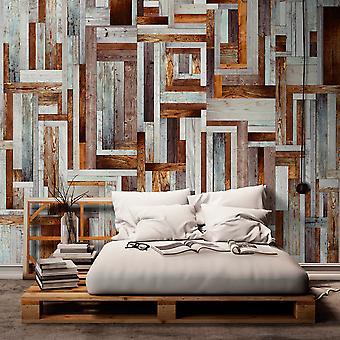 Fototapet - Labyrinth of wooden planks