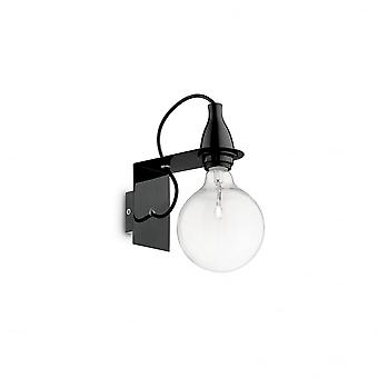 Ideal Lux Minimal Wall Light Black