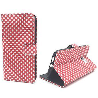 Handyhülle Tasche für Handy HTC 10 Polka Dot Rot