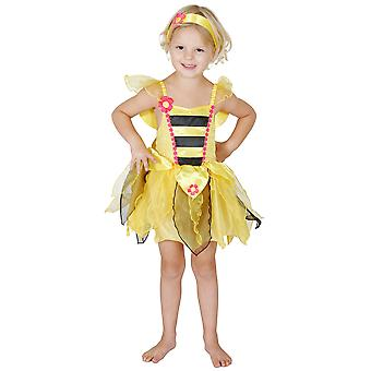 Bumble Bee Honey Fairy Tale Insect Story Book Week Girls Costume 3-5