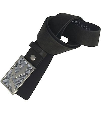 Resin Reflection Faux Leather Belt