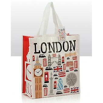 Union Jack bærer ikoner av London Shopping Souvenir Bag