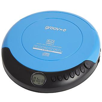 Groov-e GV-PS110-BE Portable Mains/Battery Operated Retro Personal CD Player