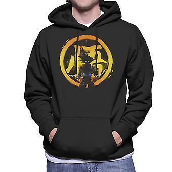Dragon Ball Z Young Dragon Yellow Men's Hooded Sweatshirt