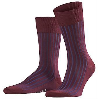 Falke Shadow Midcalf Socks - Barolo Red/Navy
