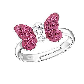 Schmetterling - 925 Sterling Silber Ringe - W24012X