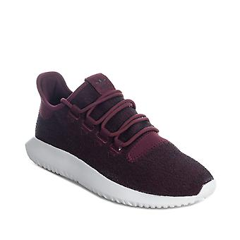 Mens adidas Originals Tubular Shadow Trainers In Burgundy