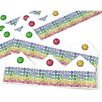 Rainbow Jewel Adjustable Paper Hats for Crackers - 10 or 25 Pack