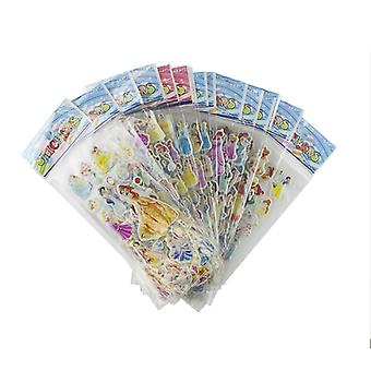 Disney Princess stickers in 3D-6 Sheets (about 72 PCs)