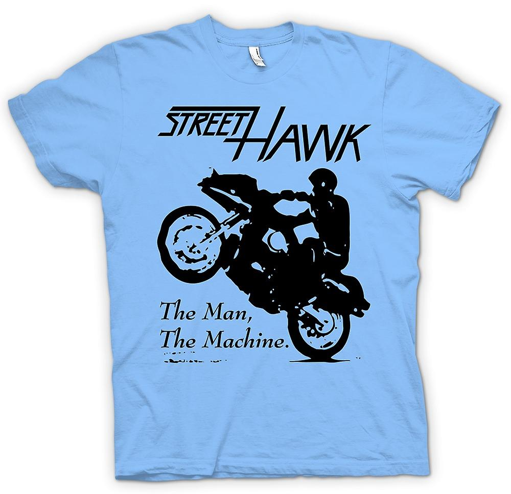 Heren T-shirt-Street Hawk - Bike - Crime Fighter