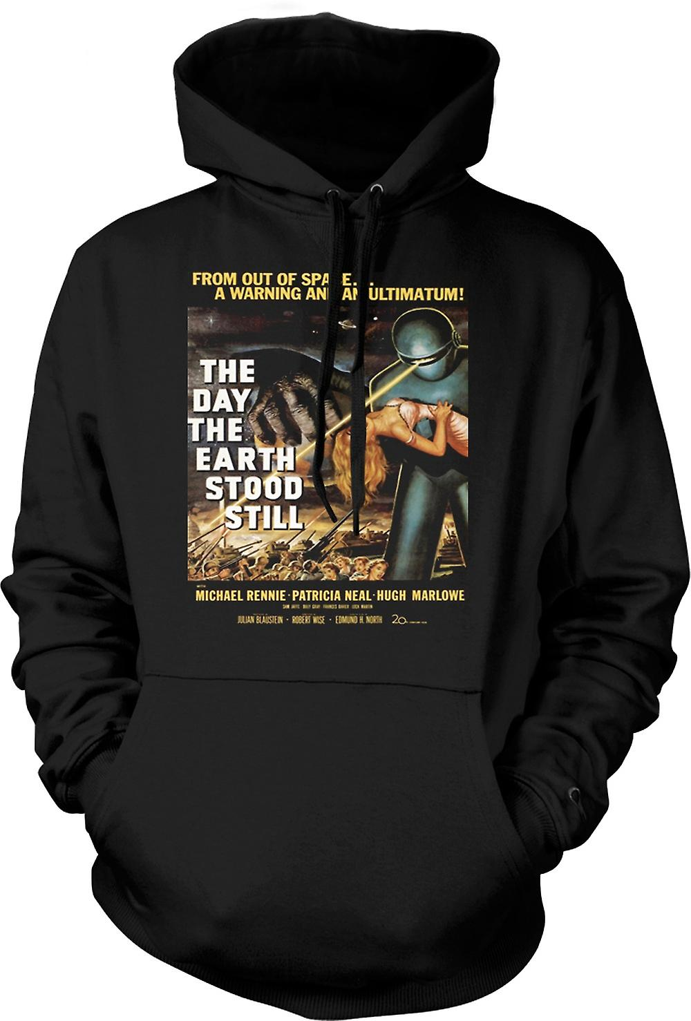 Mens Hoodie - The Day The Earth Stood Still - B Movie