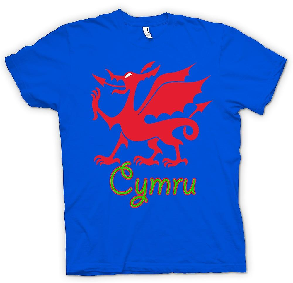 Mens t-skjorte - walisiske dragen - Cymru