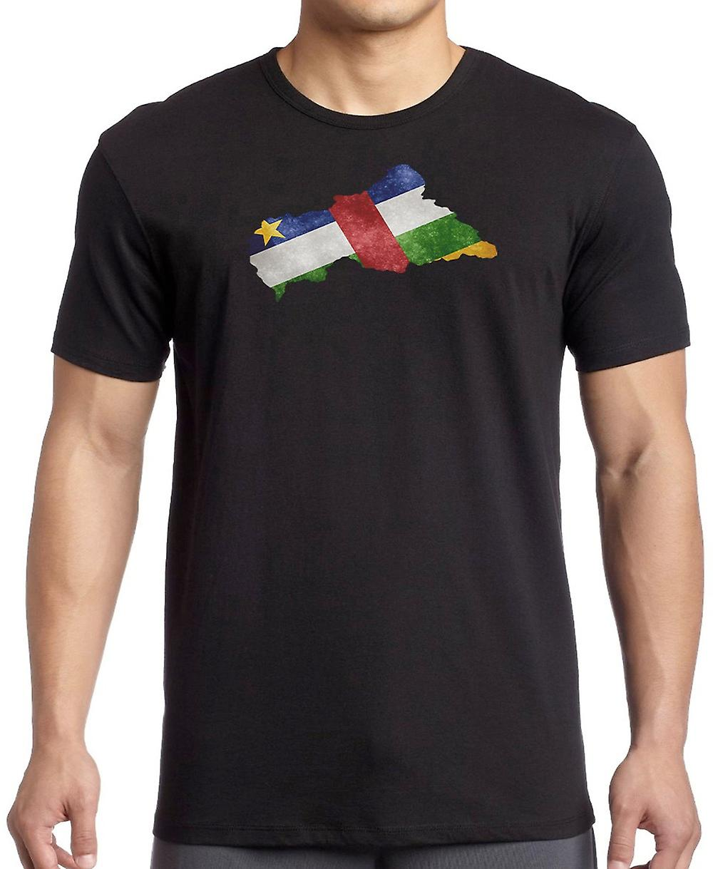 Central Afrika Republik Flagge Karte Kinder T Shirt