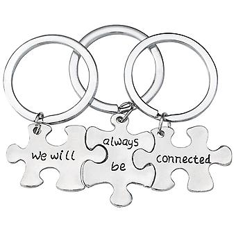 TRIXES We Will Always Be Connected  Jigsaw Puzzle Metal Keyring