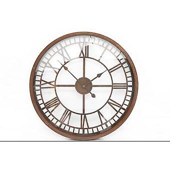 67x67cm rustiek glas gezicht metalen Wandklok