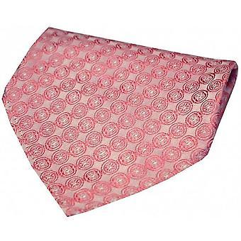 Pañuelo de seda David Van Hagen cadena Circular - rosa