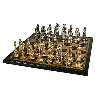 Florence Men Chess Set With Leather Board