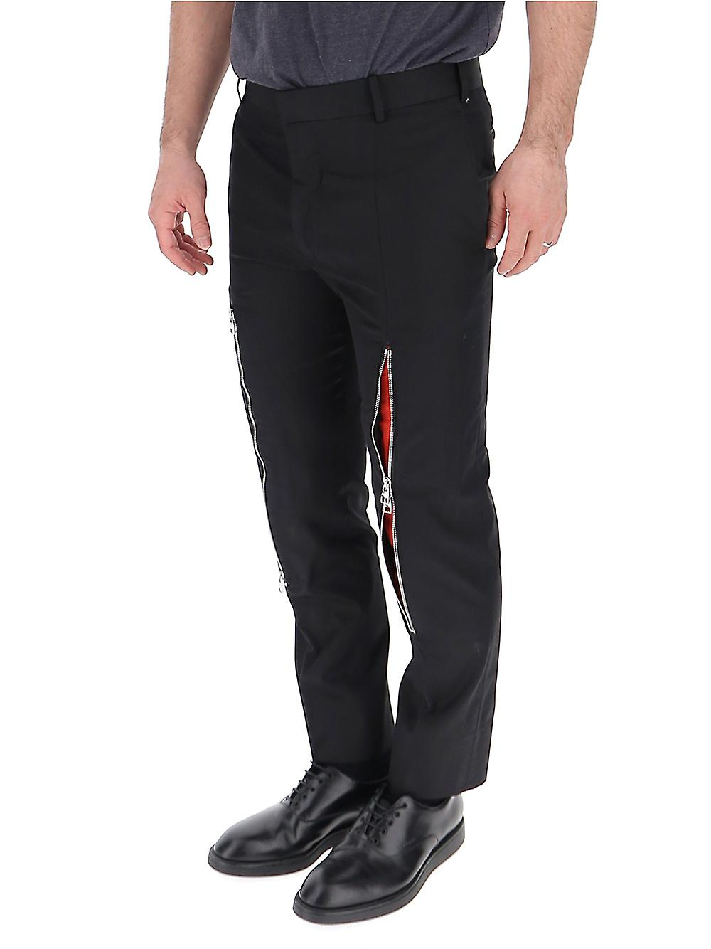 Alexander Mcqueen Black Cotton Pants